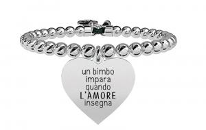 Kidult Bracciale Love, life CUORE | L'AMORE INSEGNA - Boule