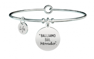 Kidult Bracciale Free Time, Life, Ligabue official Collection (Balliamo sul mondo)