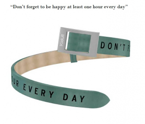 Kidult Cinturino-Bracciale Time Collection, Don't forget to..., pelle verde