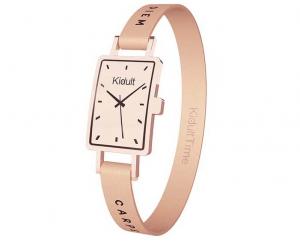 Kidult Bracciale Time Collection, Rettangolare PVD Rosè Gold, Carpe Diem