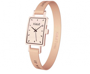Kidult Bracciale Time Collection, Rettangolare PVD Rosè Gold, If not now, when?