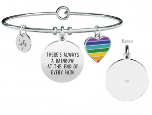 Kidult Bracciale Philosophy, Life (There's always a rainbow at the end of every rain)