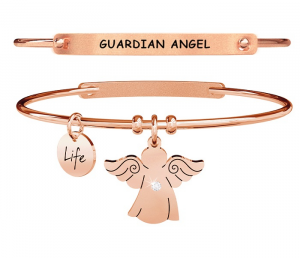 Kidult Bracciale Spirituality, Life, ANGELO | PROTEZIONE - Pvd rosé Gold
