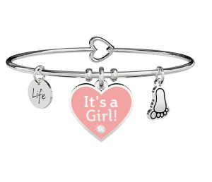 Kidult Bracciale Special Moments, Life, CUORE | IT'S A GIRL