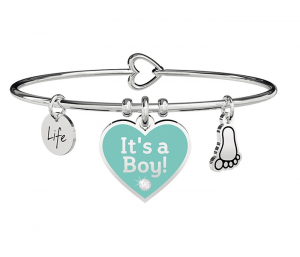 Kidult Bracciale Special Moments, Life, CUORE | IT'S A BOY