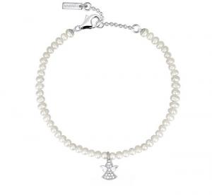 Mabina Bracciale Argento - Perle e angelo