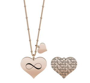 Kidult Collana Love, Life (Cuore | Infinito Pvd Rose Gold)