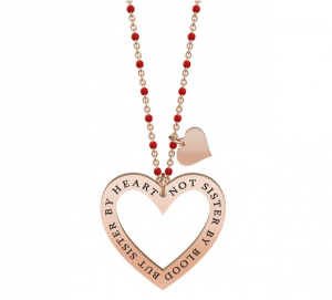 Kidult Collana Love, Life (Cuore| Come sorelle Pvd Rose Gold)