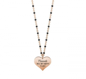Kidult Collana Love, Life (Cuore | Friends Pvd Rose Gold)