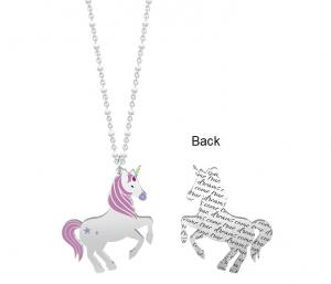Kidult Collana Symbols, Life - Unicorno | Desideri - Lunga 80 cm