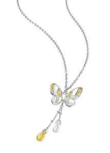 Morellato Collana Volare (Pendente Farfalla Acciaio, cristalli bianchi e gialli)