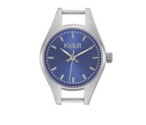 Kidult Orologio, Time Collection (Acciaio, quadrante blu)