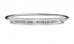 Kidult Bracciale Free Time, Life (MUSIC ON - WORLD OFF)