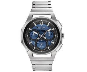 Bulova orologio Curv Progressive, Crono (Acciaio)