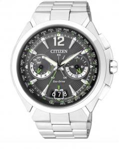 Citizen Satellite Wave H950 Cassa e bracciale acciaio, particolari verdi