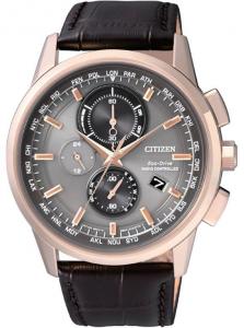 Citizen H804 Quadrante grigio, cassa acciaio I.P oro rosa