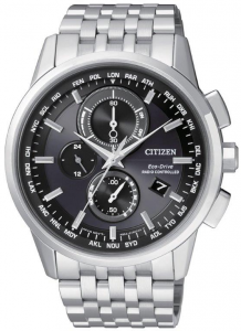 Citizen H804 Quadrante nero, bracciale acciaio