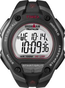 Timex Lap Mega - Cassa nero-grigio, cinturino nero, particolari rosso -