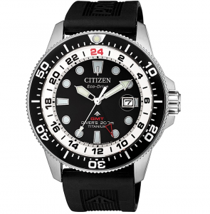 Citizen Diver's Supertitanio GMT cassa Supertitanio, cinturino poliuretano
