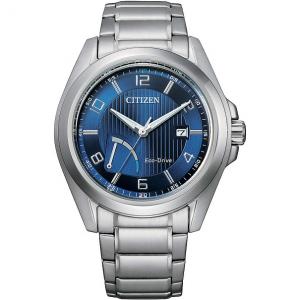 Citizen Reserver cassa acciaio, bracciale acciaio, quadrante blu