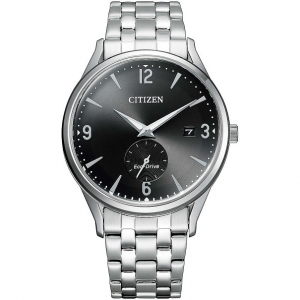 Citizen Classic Cassa acciaio, bracciale acciaio, quadrante nero