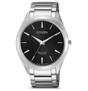 Citizen Unisex Supertitanio 6520 - 39mm. Cassa e bracciale supertitanio Quadrante nero