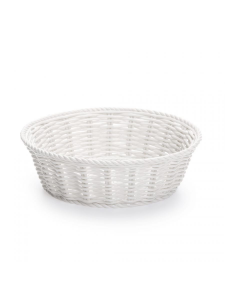 Cestino pane in porcellana bianca di Seletti