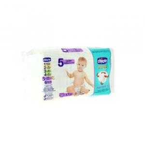 Pannolini Chicco Dry Fit & Fun Maxi Taglia 5 12-25kg 17 Unità