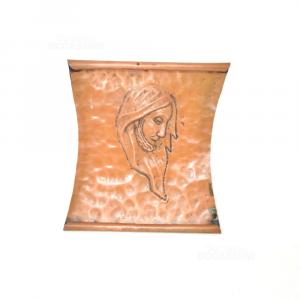 Icona Di Cristo In Rame 23*20 Cm