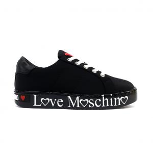 Sneaker nera con fondo logato Love Moschino