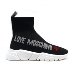 Sneaker a calzino nera Love Moschino