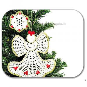 Angelo bianco e fiocco di neve ad uncinetto -  Handmade - Italy