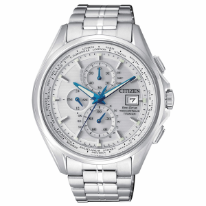 Citizen H800 Elegance Quadrante argento, cassa e bracciale Supertitanio