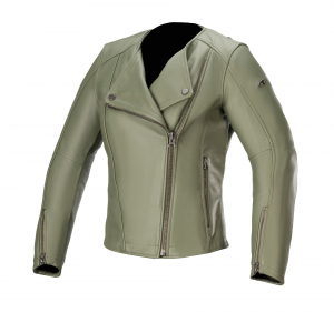 Giacca moto donna pelle Alpinestars ALICE Verde Militare