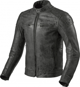 Giacca moto pelle Rev'it Huntington Antracite
