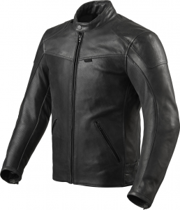 Giacca moto pelle estiva Rev'it Sherwood Air Nero