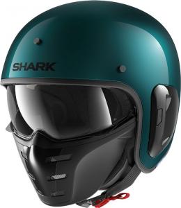 Casco jet Shark S-DRAK 2 BLANK in fibra Verde petrolio