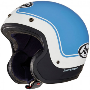 Casco jet Arai URBAN-V ERA in fibra Blu