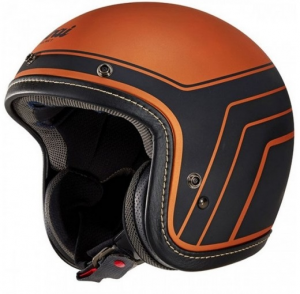 Casco jet Arai URBAN-V BLITZ COPPER in fibra Nero Arancio
