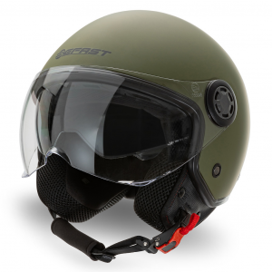 Casco jet Befast Rapid Verde Militare Opaco