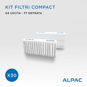 Kit ricambio filtri Compact - CONF. PROMO x30- per Alpac VMC Compact, Iki e Shu e Climapac VMC Compact, Aliante, Arias