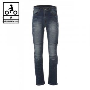 Jeans moto Carburo TORIN CE Certificati con fibra aramidica Blu Stonewash