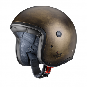 Casco jet Caberg Freeride Bronze Brushed in fibra Marrone bronzo