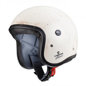 Casco jet Caberg Freeride Old White in fibra