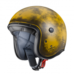 Casco jet Caberg Freeride Yellow Brushed in fibra Giallo