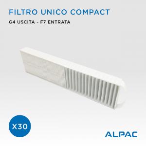 Filtro unico di ricambio Compact - CONF. PROMO x30 - per Alpac VMC Compact, Iki e Shu e Climapac VMC Compact, Aliante, Arias