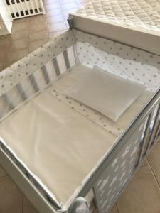 Materasso+lenzuolino+cuscino Culla Baby space Azzurra design