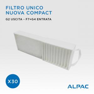 PROMO x30 Filtro unico Alpac Nuova Compact / Climapac Aliante, Arias / Helty Flow Easy, Plus, Elite, Flow40