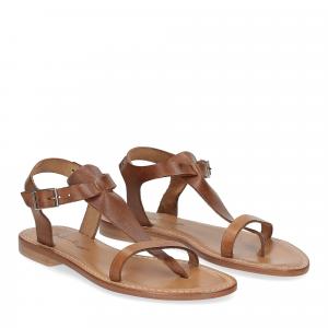 De Capri a Paris sandalo infradito 16 sandy marrone