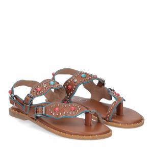 Il Laccio sandalo infradito PS5188 pelle cuoio